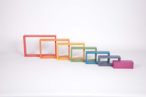 Wooden Rainbow Architect Rectangles 7pk
